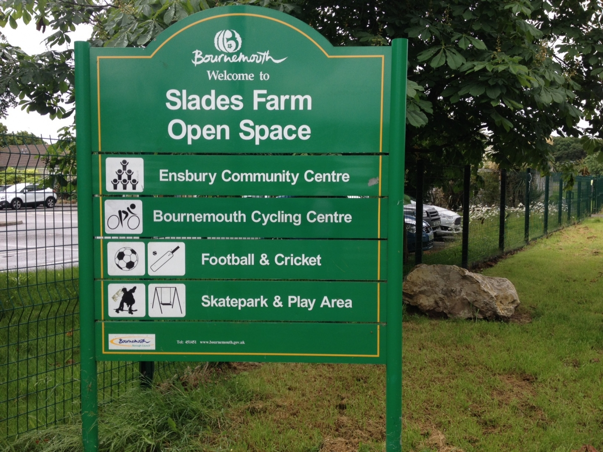 sladesfarmopenspacesign